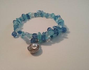 Beach charm memery bracelet