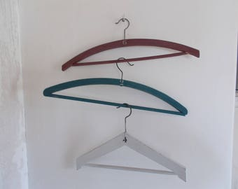 VINTAGE WOOD HANGERS PATINAS DIFFERENT COLORS