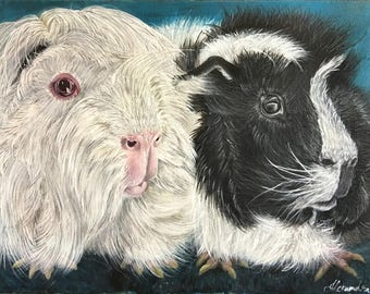 Guinea Pigs Painting