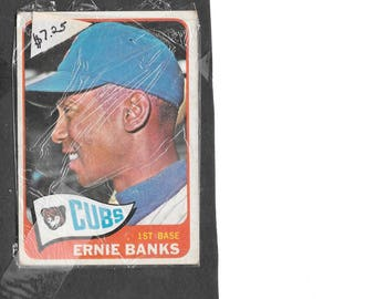 Chicago CUBS 1965 Ernie BANKS Topps #510 Baseball Card exc,well centered