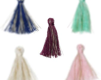 2 X tassel 30mm without ring and golden brown