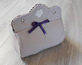 Jewelry box or make-up box.
