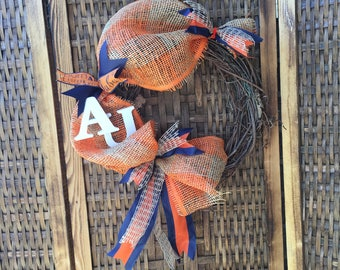 "Auburn University 12"" Grapevine Wreath"