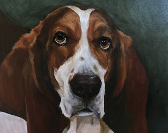 "Custom Pet Oil Paintings, 24""x 24"", August SALE!"