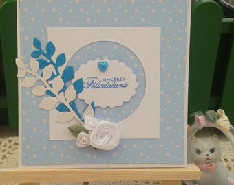 Birth, baptism, boy, congratulations card