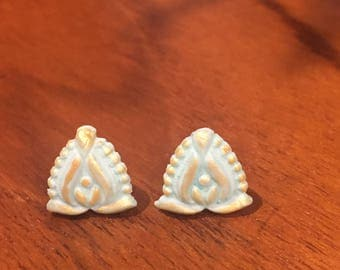 Hand pressed earrings
