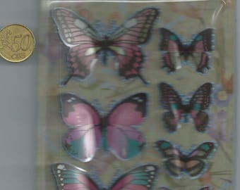 3D Pink Butterfly Stickers