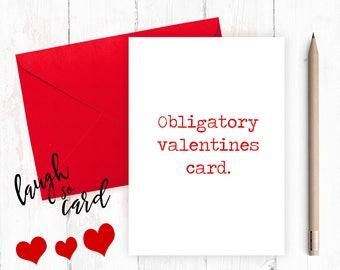 Funny anniversary card, Funny Birthday,  Boyfriend Card,Anniversary, funny valentines, funny rude card, Husband, for him, obligatory