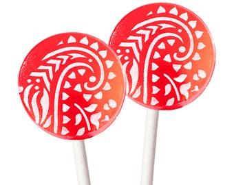 6 - Strawberry Rhubarb Lollipops With Vanilla Bean Glaze