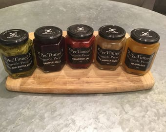 Made to order jams, jellies, sauces and condiments