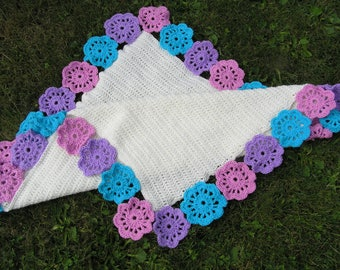 crocheted blanket or plaid, mothers day gift