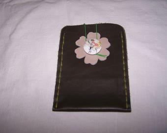 Khaki and beige tones fashion trend leather case