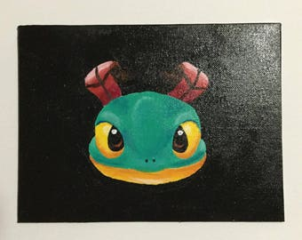 Heroes of the Storm emote - bwhappy painting - brightwing