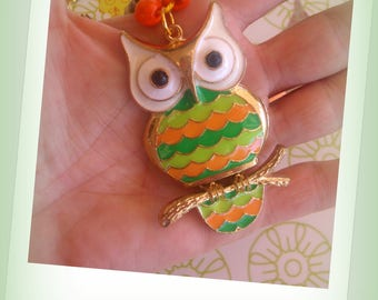 NECKLACE paper beads * life is OWL *.