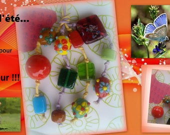 Bag charm: Murano style glass beads!