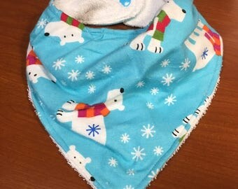 Polar Bear Winter Bandana Bib