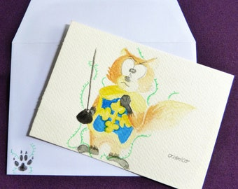 greeting card handmade watercolor, for all