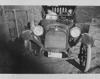"1918 original 2.5"" x 3.5"" photo automobile from california"