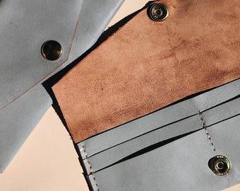 Blue Genuine Leather Wallet