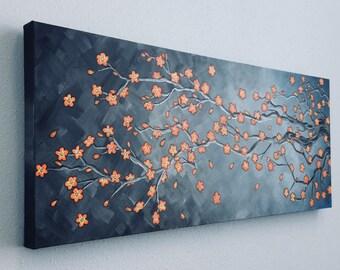 Modern tree branch painting