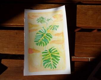 Watercolor summer Illustration