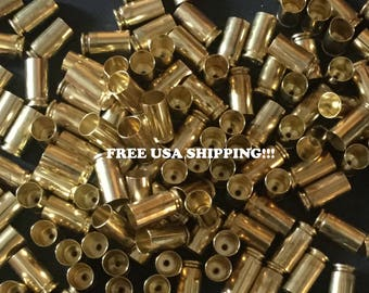 50 .40 caliber brass bullet casings, FREE USA SHIPPING, bullet jewelry, bullet earrings, 40 shells, 40 casings,reloading supplies