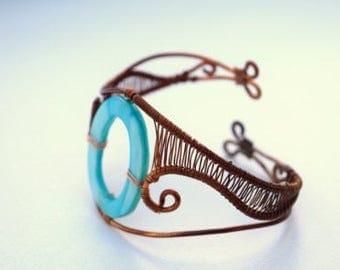 Copper Wave Bracelet