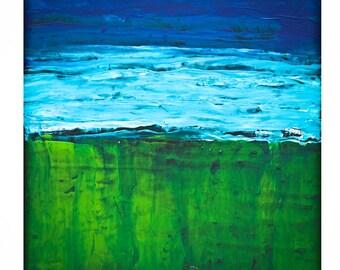 Green & Blue | abstract Dutch art