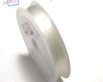 1 spool of 0.5 mm x 30 m fishing line, transparent white