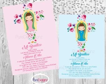 Virgen de Guadalupe Invitation, Virgencita Invitation, Virgen Invitation