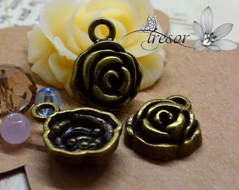 Set of 8 QZW066 pendant, bronze, pink