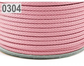 Pink polyester cord 1 m