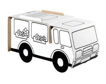 Camper to build and color with 6 pens included / creative kids DIY Kit