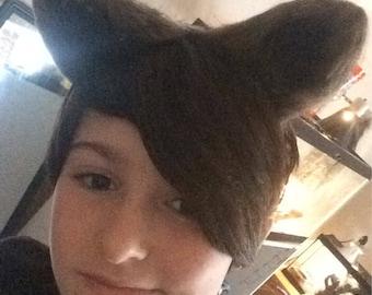 Handmade faux fur wolf ears!