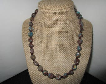 Brown & Turquoise Necklace