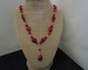 Red Pearl Necklace
