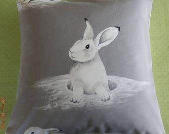 Envelope cushion 40x40cm pattern bunnies
