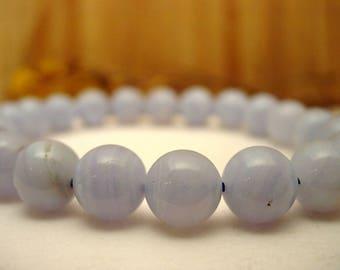 Blue chalcedony stones bracelet.