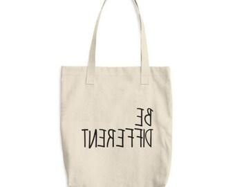 Be different tote bag - unique cotton tote bag