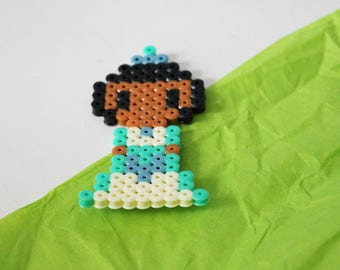 Disney Princess Tiana beads hama (pixel art)
