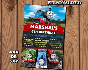 Thomas The Train Invitation,Thomas The Train Birthday Invitation,Thomas The Train,Thomas The Train Birthday Party,Thomas The Train Printable