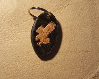 "Letter ""R"" eagle theme keyring."