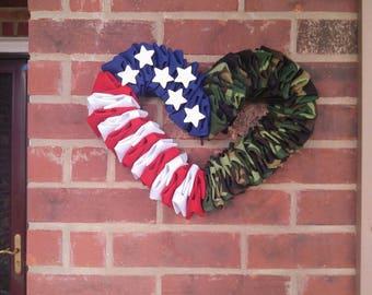 Camo Line - Ol' Glory Heart Edition Wreath