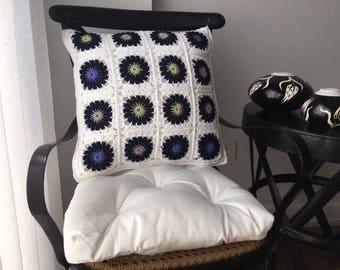 Patchwork Crochet Pillow Case