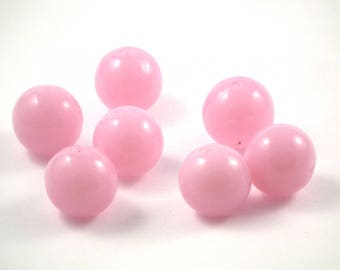 ♥X2 12mm♥ pink glass bead