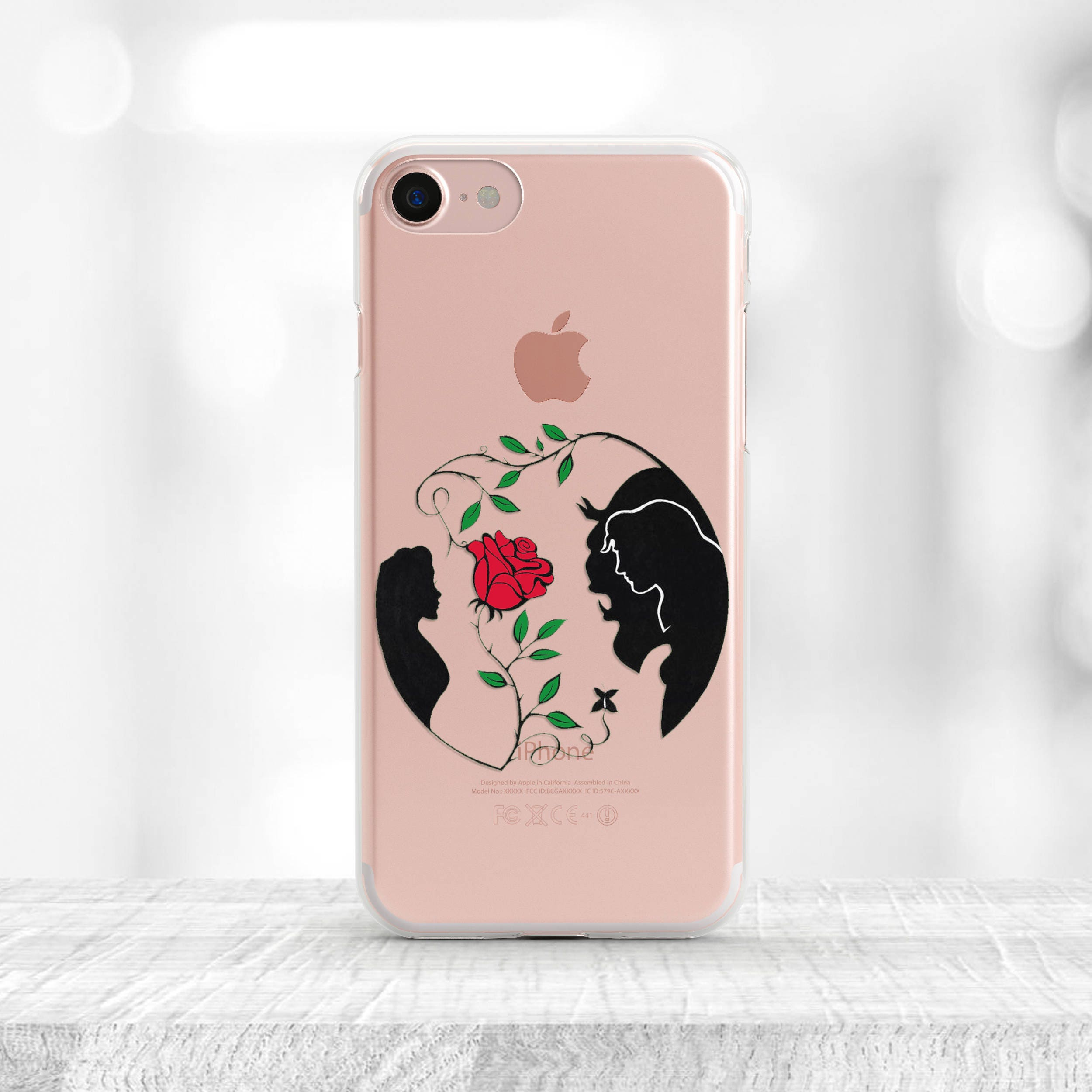 Beauty and the Beast iPhone Case Disney iPhone 7 Case rubber