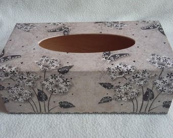Flowers and butterflies tissue box