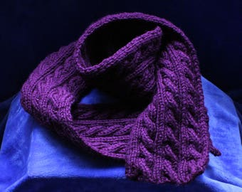 Purple Cable Scarf