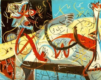 RIGID PLACEMAT WASHABLE T - Jackson Pollock - Figure shorthand.