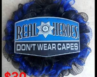 Police Wreath
